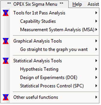 OPEX's customised Minitab menu - a free install